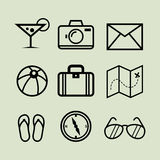 Holiday Line Art Icons Royalty Free Stock Photos