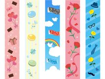 Holiday line. Obi banner set stock illustration