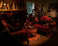 Holiday livingroom stock photography