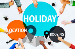 Holiday Location Booking leisure Happiness Celebration Concept Royalty Free Stock Image