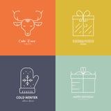 Holiday Logos Stock Photos