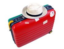Holiday luggage stock images