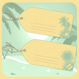 Holiday luggage tags Royalty Free Stock Photo