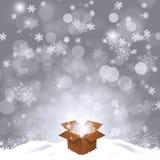 Holiday Magic Gift Box Stock Images