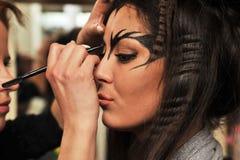 Holiday make-up. Makeup for seasonal holiday and Halloween Stock Photo