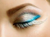 Holiday Make-up. Beautiful Eyes Holiday Make-up. Close-up Image Stock Photography