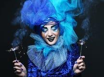 Holiday Make-up.Beautiful Woman's Face Royalty Free Stock Photo