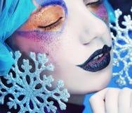 Holiday Make-up.Beautiful Woman's Face Royalty Free Stock Photos
