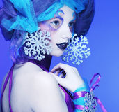 Holiday Make-up. Beautiful Woman's Face Royalty Free Stock Images