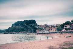 Holiday makers flood the popular resort of Parga during the 1st of May bank holiday in Greece. royalty free stock photography