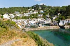 Holiday makers visiting Polperro Cornwall England Royalty Free Stock Image