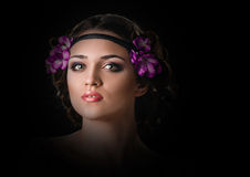 Holiday Makeup Royalty Free Stock Photography
