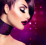 Holiday Makeup. Beauty Woman Stock Photo