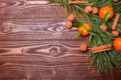 Holiday mandarins Royalty Free Stock Images
