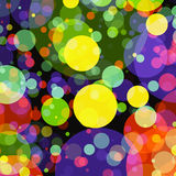 Holiday manycolored rounds bokeh backgrounds Stock Photos