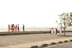 Holiday on Marine Drive Royalty Free Stock Photos