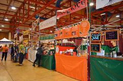Holiday Market Food Vendors Stock Photography