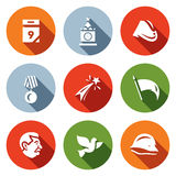 Holiday - 9 may. Vector Set of Victory day Icons.  Royalty Free Stock Photo