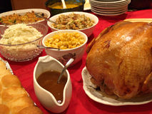 Holiday Meal. Holiday turkey meal with all the trimmings Stock Photography