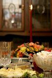 Holiday Meal Table Royalty Free Stock Photography