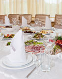 Holiday Meal Table Royalty Free Stock Image