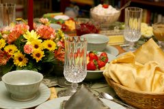 Holiday Meal Table 9081 Royalty Free Stock Photography