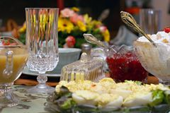 Holiday Meal Table Setting stock photography