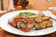 Holiday meatloaf dinner Stock Photos
