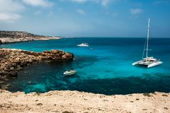 Holiday at the Mediterranean sea in Europe royalty free stock photo
