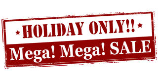 Holiday only mega sale Stock Photography