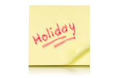 Holiday memo Royalty Free Stock Photography