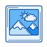 Holiday memories line icon. Royalty Free Stock Photos