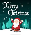 Holiday Merry Christmas Party Poster Stock Images