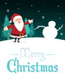 Holiday Merry Christmas Party Poster Stock Image