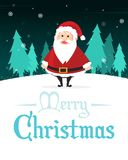 Holiday Merry Christmas Party Poster Royalty Free Stock Photography