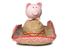 Holiday in Mexico piggy bank Stock Photo
