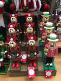 Holiday Mickey and Minnie Mouse. Holiday toy Mickey and Minnie Mouse for sale at a gift shop in Disney World Orlando, Florida Royalty Free Stock Image