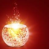Holiday mosaic candle holder Royalty Free Stock Photo