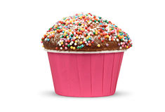 Holiday muffin isolated Royalty Free Stock Images