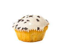 Holiday muffins with icing isolated Royalty Free Stock Photos