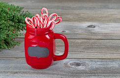 Holiday Mug filled with treats Stock Photos