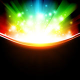 Holiday multicolored template with shining stars. And copyspace Royalty Free Stock Photography