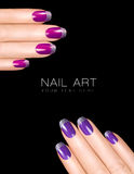 Holiday Nail Art. Luxury Nail Polish. Nail Stickers Royalty Free Stock Image