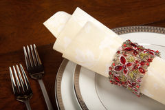 Holiday napkin ring 1 Stock Photos