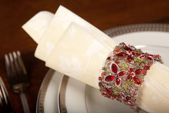 Holiday napkin ring 2 Stock Photography