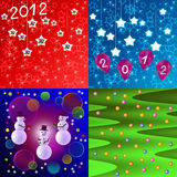 Holiday New Year background. Holiday New Year blue, red and green background Royalty Free Stock Photo