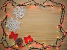 Holiday new year Christmas frame. Royalty Free Stock Photography