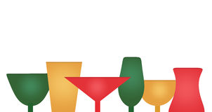 Holiday New Year`s Celebration Cocktail Glasses Stock Photography