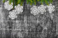 Holiday  New Years and Christmas fir tree  decorat Royalty Free Stock Images