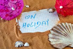 On holiday note royalty free stock image